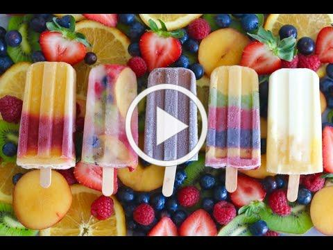 Homemade Popsicles: 5 Different Frozen Summer Treats - Gemma's Bigger Bolder Baking Ep 74