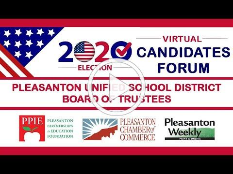 Pleasanton School Board Candidates Forum 2020
