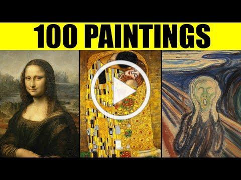 FAMOUS PAINTINGS in the World - 100 Great Paintings of All Time