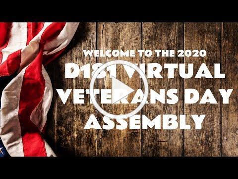 D181 Virtual Veterans Day Assembly 2020