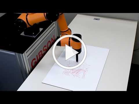 AUBO Robot Drawing a Masterpiece