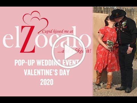 El Zocalo's Cupid's Kiss Pop-Up Weddings 2020