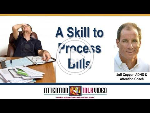ADHD Tip: Processing Bills