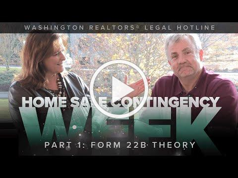 Home Sale Contingency Week, Part 1: Theory