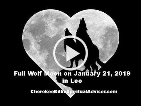 Full Wolf Moon on January 21, 2019 in Leo