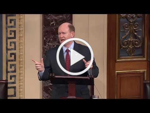 Senator Coons gives NEA/NEH floor speech, December 13, 2017