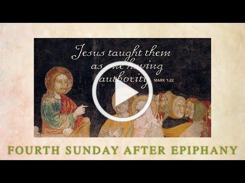 Fourth Sunday after Epiphany - January 31, 2021