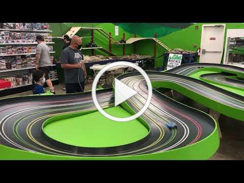 Father and Son Slot Car Racing at Fundemonium