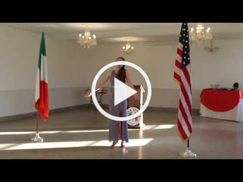 2020 Casa Italia Vocal Scholarship - Muccianti Scholarship Winner - November 8, 2020, Video 1