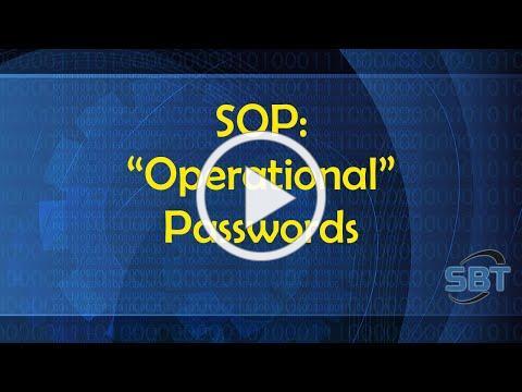 SOP: Operational Passwords
