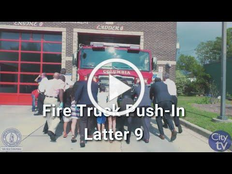 Columbia-Richland Fire Department Ladder Truck Push-In