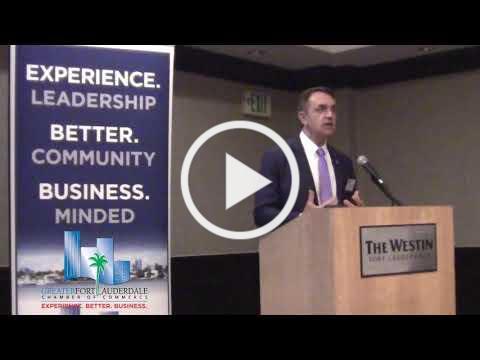 Fort Lauderdale Mayor Dean Trantalis Speaks at Chamber Luncheon