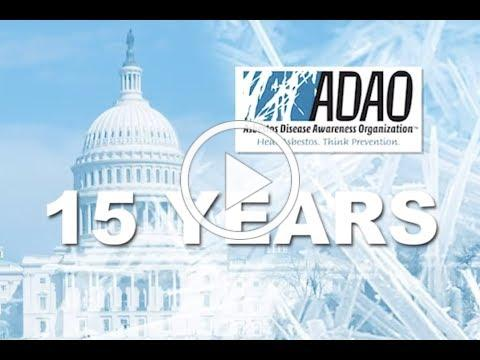 Asbestos Disease Awareness Organization (ADAO) 15th Anniversary Video