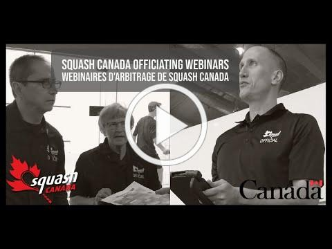 Squash Canada Officiating Webinar: Referee Basics - Playing Without A Referee (February 23, 2021)