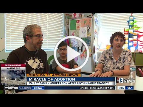 Las Vegas family adopts boy after unthinkable tragedy