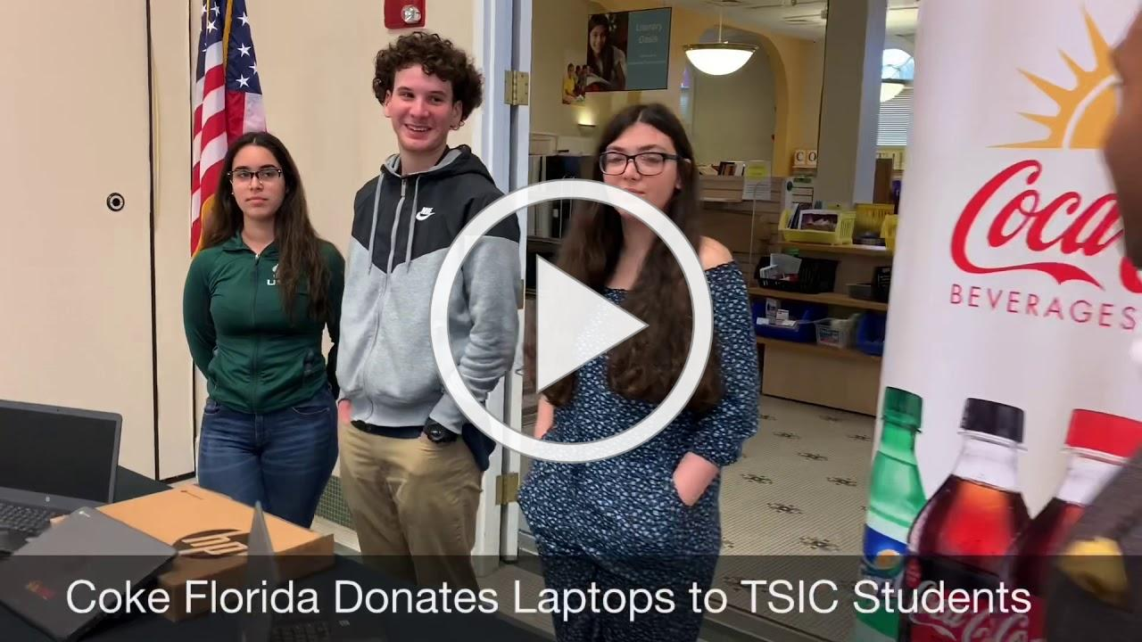 Coke Florida Donates Laptops to TSIC students
