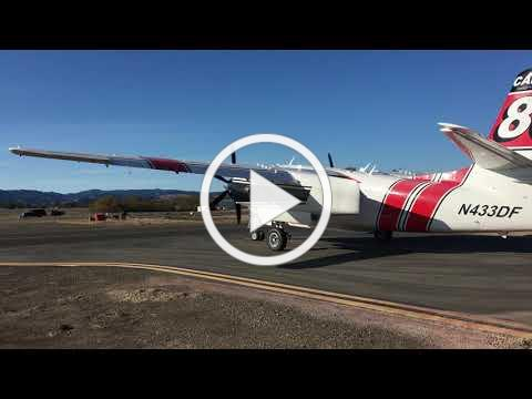 S2-T tanker undergoes testing at Cal Fire air attack base near Sonoma County Airport
