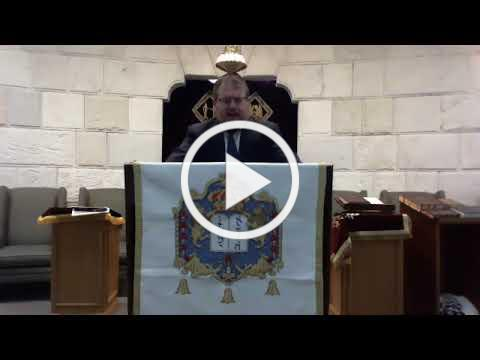"Rabbi Fisch Drasha/Sermon "" The oldest Jewish city """
