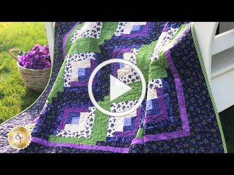 How to Make a Curvy Log Cabin Quilt Block | a Shabby Fabrics Quilting Tutorial