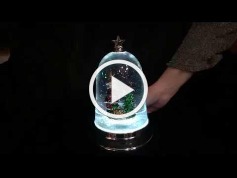 Lighted Santa in Cloche