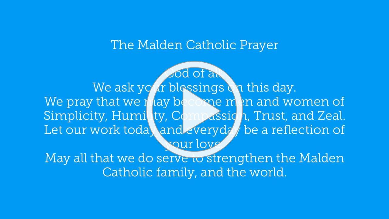 Malden Catholic Prayer - March 30