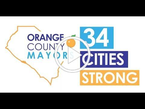 """Orange County's Mayors: """"Mask up to open up OC!"""""""