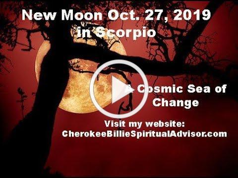 New Moon October 27, 2019 in Scorpio