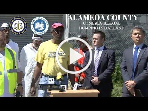 Alameda County DA's Office partners with Supervisor Miley to combat illegal dumping in East Oakland
