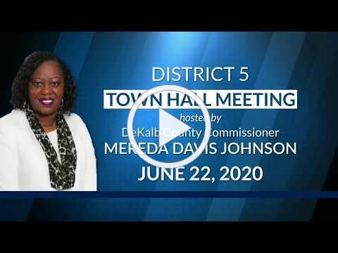 District 5 Town Hall Meeting hosted by Commissioner Mereda Davis Johnson