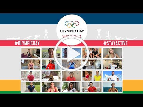 Giant Workout with Olympic Athletes from all over the World!   #OlympicDay 2020