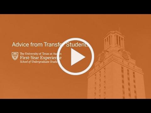 Advice from Transfer Students