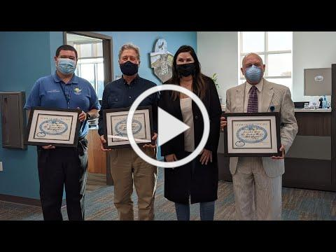 2021 Public Safety Award: Bob Snyder, Dr. Stephen Bickel, Jonathan Lord and Gerard Forte