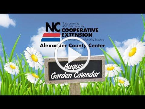 August Garden Calendar