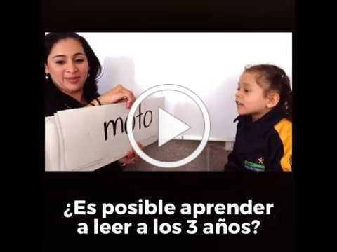 Curso Aprender a leer a los 3 en México y Colombia
