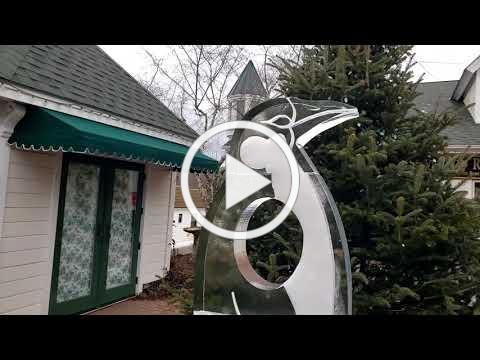 Ice Sculptures at 2021 Blowing Rock WinterFest