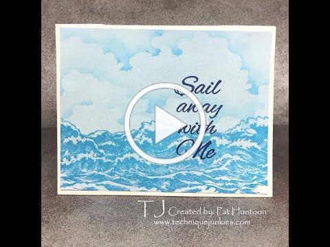 Stormy Ocean Card Tutorial