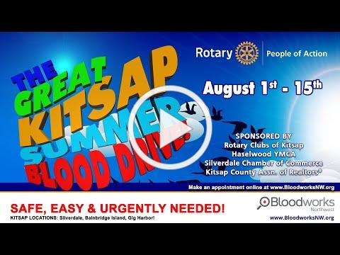 The Great Kitsap Summer Blood Drive - August 1st - 15th