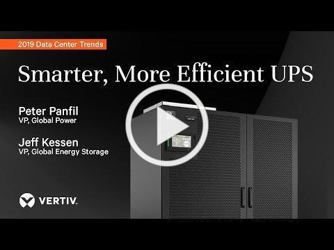 Smarter, More Efficient UPS