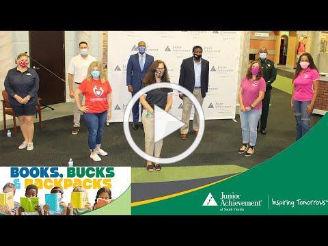 Junior Achievement, Books, Bucks, Backpacks Press Conference, July 11, 2020