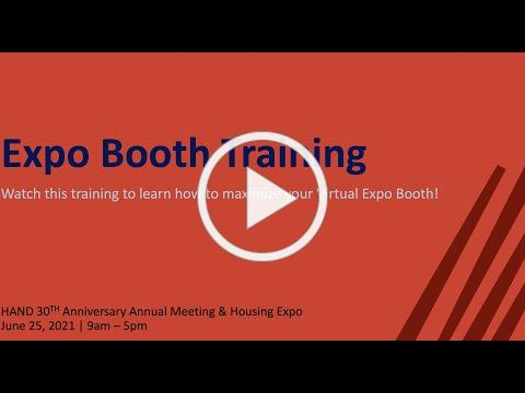 HAND Expo Exhibitor Training