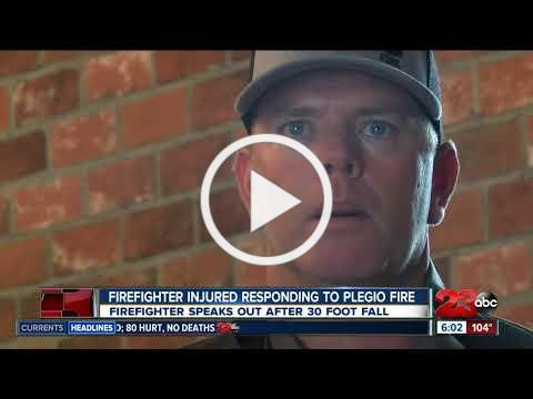 KCFD firefighter injured after falling 30 feet speaks out