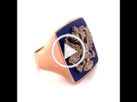 MDJ Advantage - Russian Enamel Diamond Ring - Gents - Dominic Mainella -