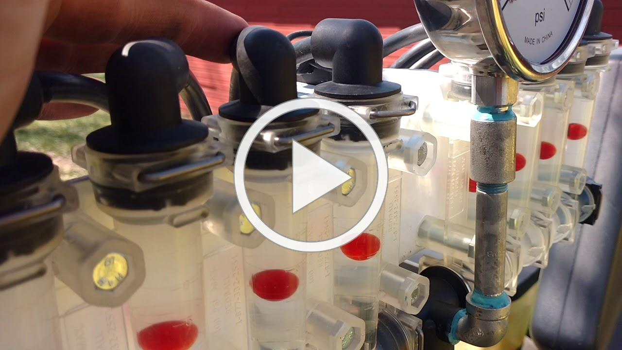 Calibrating fertilizer pump on the planter
