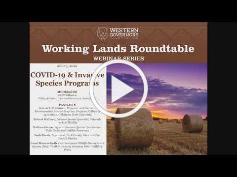 Webinar: COVID-19 and Invasive Species Programs