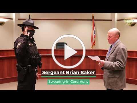 2021 Amberley Village Sergeant Brian Baker Swearing In