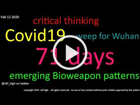 critical thinking - Covid19 - 71 days - expected reactions - supplies list
