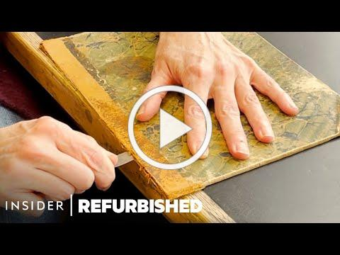 How A One-Of-A-Kind 1850s Record Book Is Professionally Conserved   Refurbished