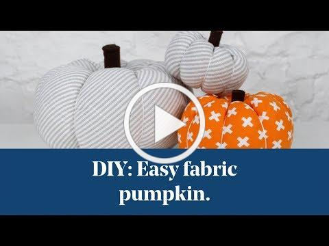DIY: Easy Fabric Pumpkin Tutorial