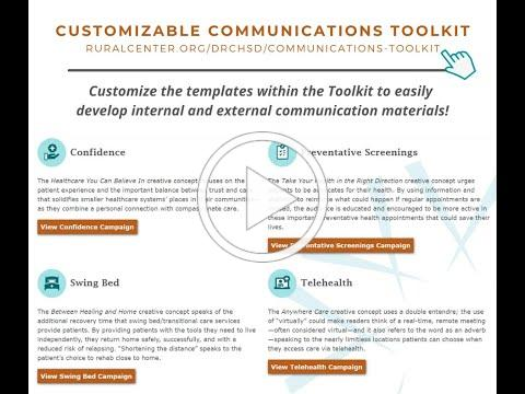 Customizable Communications Toolkit Nutshell