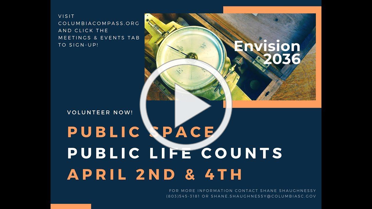 Public Space Public Life Counts PSA | Columbia Compass